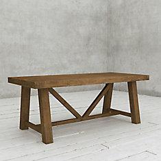 La table rectangulaire de 78 po Andora-Bois foncé naturel