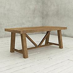 La table rectangulaire de 78 po Andora-Bois naturel