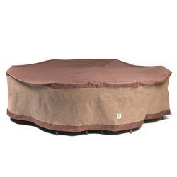 """Duck Covers Couvercles de canard Ultimate 127""""L Rectangle patio couvert avec table et chaises"""