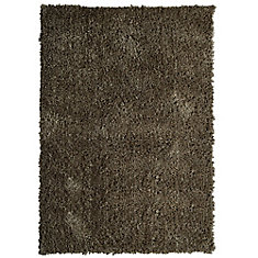 tapis palazzo shag de couleur taupe - Tapis Taupe