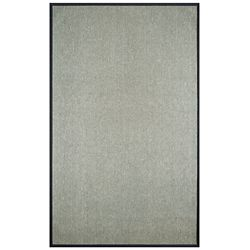 Lanart Rug Carpette, 4 pi x 6 pi, rectangulaire, gris