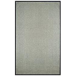 Lanart Rug Carpette d'intérieur, 8 pi. 6 po. x 12 pi. style contemporain, rectangulaire, sisal, charbon