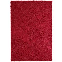 Lanart Rug Comfort Shag Red 4 ft. x 6 ft. Rectangular Area Rug