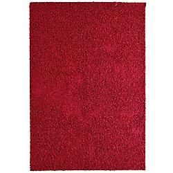 Lanart Rug Comfort Shag Red 5 ft. x 7 ft. Rectangular Area Rug