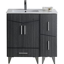 American Imaginations 36-inch W 3-Drawer 2-Door Freestanding Vanity in Grey