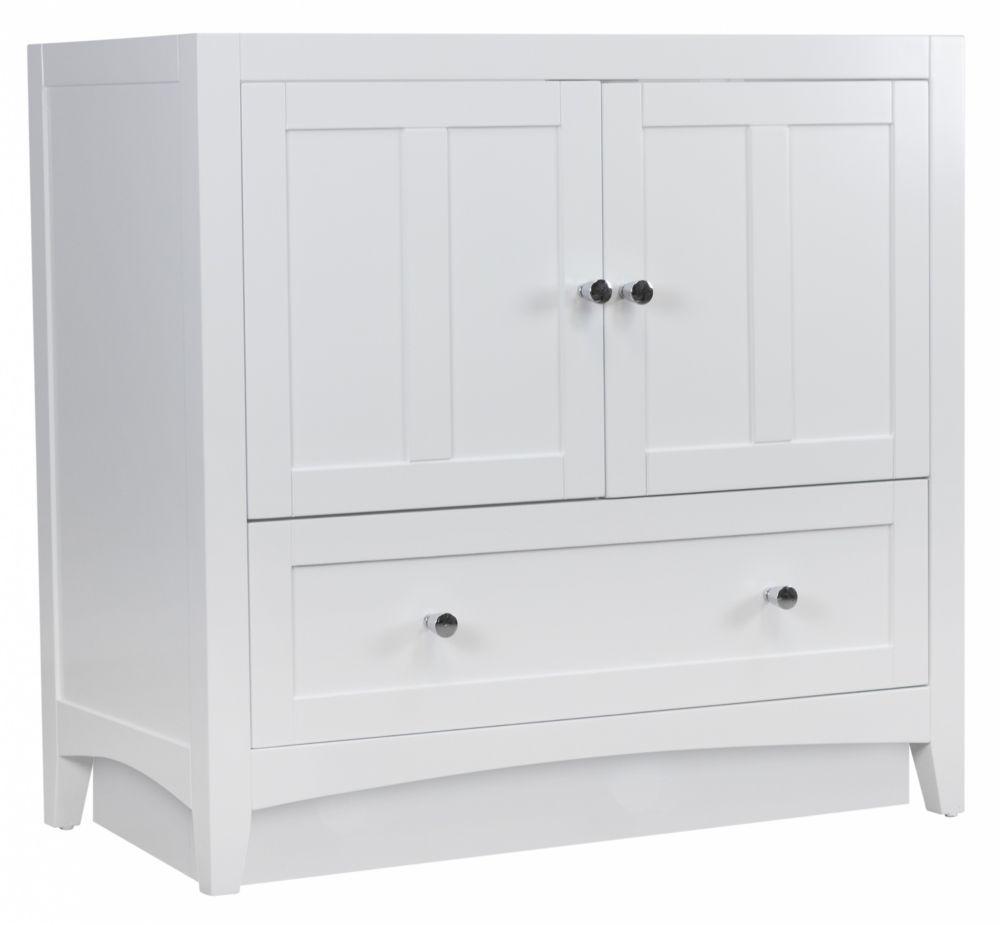 American Imaginations 35.50-inch W 1-Drawer 2-Door Freestanding Vanity in White