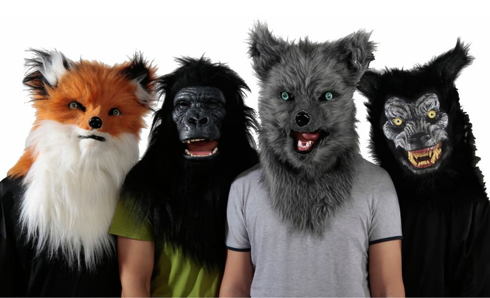 Home Accents Halloween Animalistic Masks (Price Per Item)