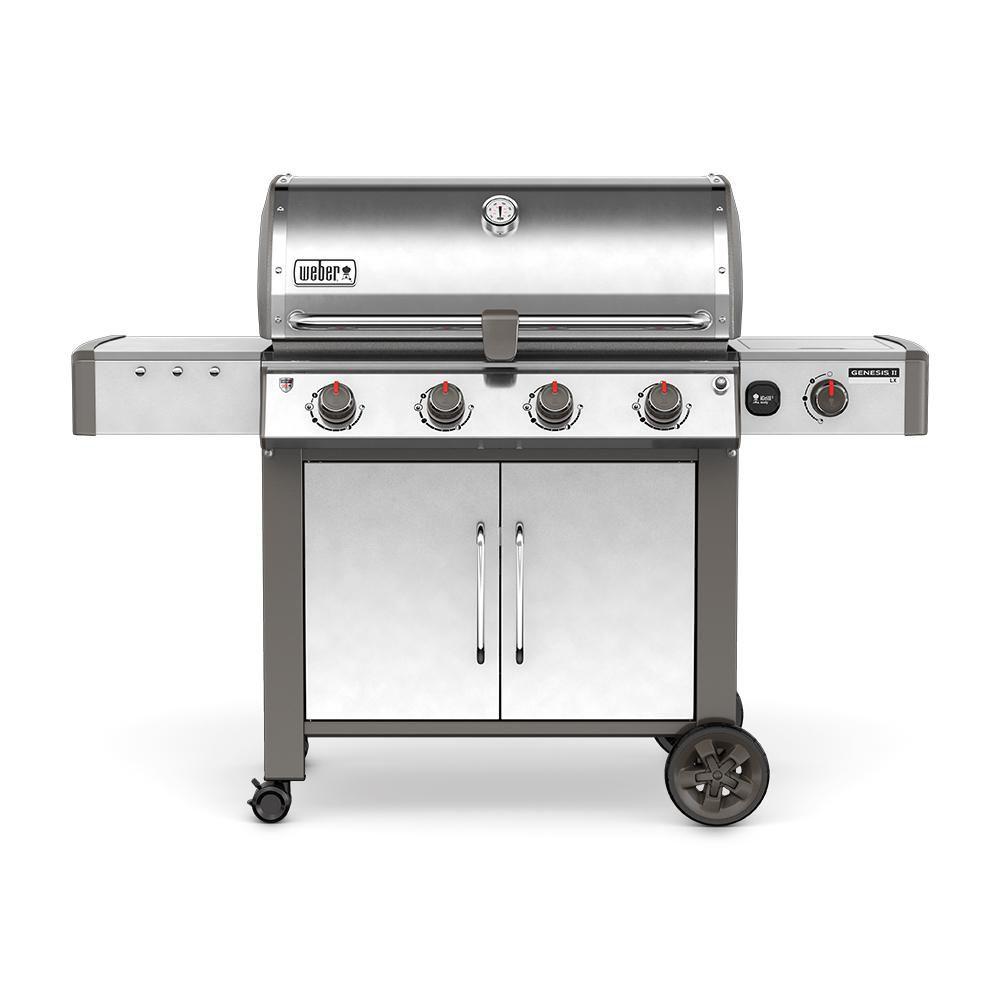 Weber Genesis II LX S-440 4-Burner Natural Gas BBQ in Stainless Steel