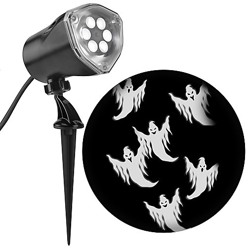 LED Whirl-A-Motion White Ghost Projector with Strobe