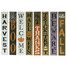 60-inch Wooden Porch Sign Holiday Decoration