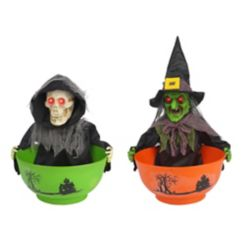 Home Accents Halloween Trick-or-Treat LED-Lit Animated Candy Bowl Holder (Assorted Styles)
