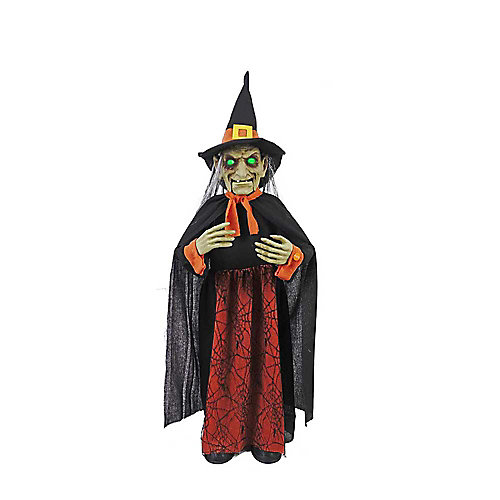 36-inch Animated Witch Bobble Head