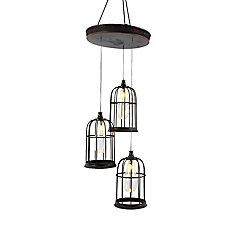 Hanging Cages 3 Light Led Decoration Pendant Fixture