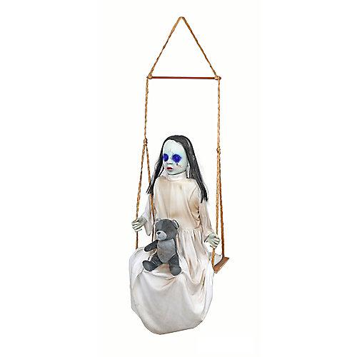 36-inch LED-Lit Animated Swinging Doll Halloween Decoration