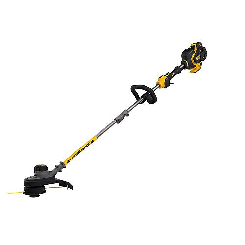 DEWALT FLEXVOLT 60V MAX Li-Ion Cordless  Brushless 15-inch String Grass Trimmer w/ 3.0Ah Battery and Charger Included