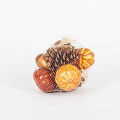 Pumpkin Vase Filler in Mesh Bag (3 Assorted Styles)