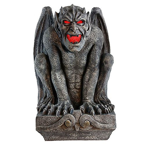 Home Accents 24-inch Resin Gargoyle with LED-Lit Eyes Halloween Decoration