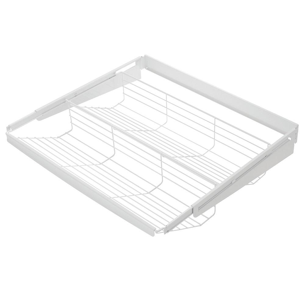 Fast Track Tiered Sliding Shelf -White