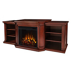 Valmont Media Console Electric Fireplace in Mahogany