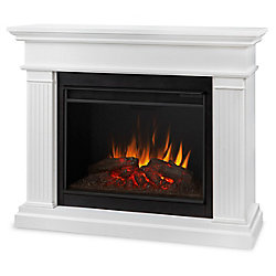 Real Flame Kennedy 56-inch Grand Series Electric Fireplace in White