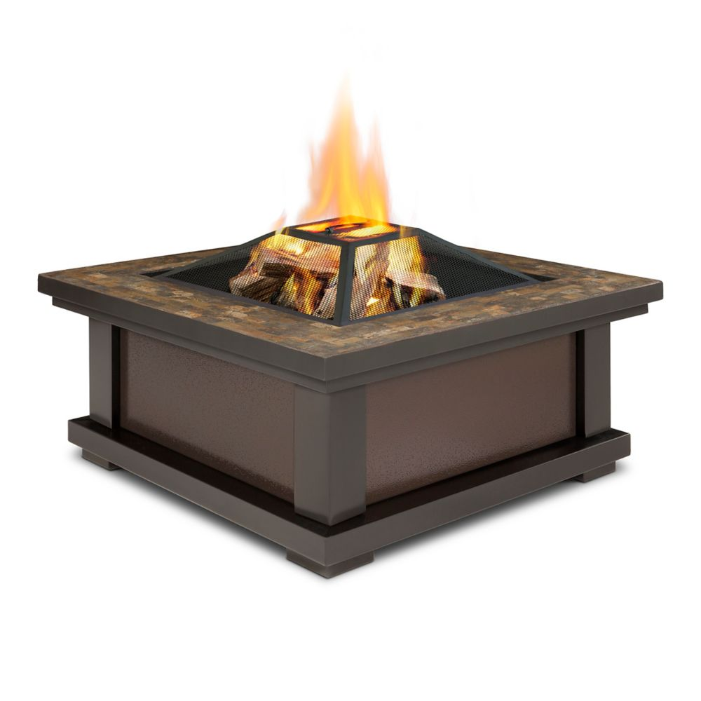 Real Flame Alderwood Steel Framed Wood-Burning Outdoor Fire - Outdoor Fire Pits The Home Depot Canada