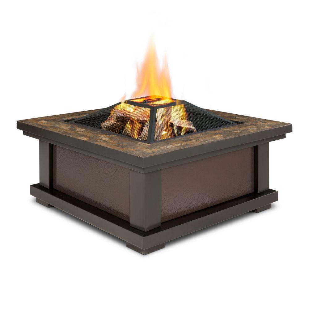 Real Flame Alderwood Steel Framed Wood Burning Outdoor Fire