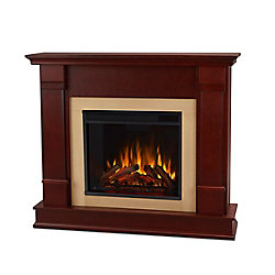 Real Flame Silverton Electric Fireplace in Dark Mahogany