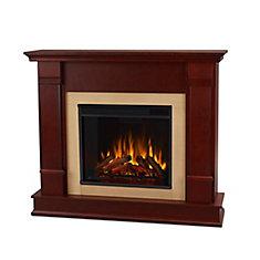 Silverton Electric Fireplace in Dark Mahogany