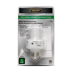 Defiant Light Sensing Socket With Photocell The Home