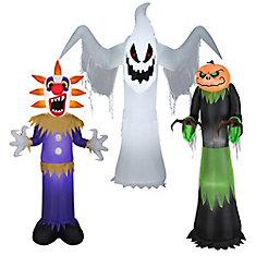 Fantôme, Faucheuse, citrouille Faucheuse gonflables décoratifs, 5 pi, 3 styles variés