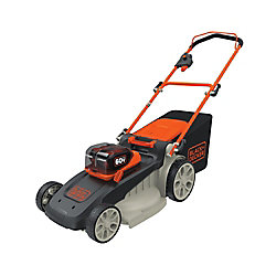 BLACK+DECKER 20-inch 60V Lithium Ion Cordless Electric Walk Behind Push Mower - Two 2.5 Ah Batteries/Charger Included