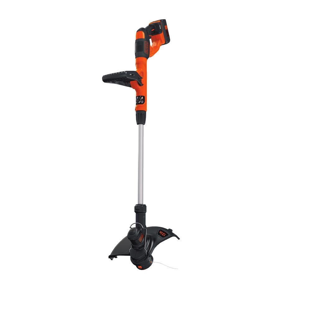Black & Decker 13-inch 40V MAX Lithium-Ion Cordless String Trimmer with Battery and Charger