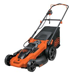 BLACK+DECKER 20-inch 40V Max Lithium Ion Cordless Electric Walk Behind Push Mower - Two Batteries/Charger Included