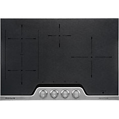 30-inch Induction Cooktop in Black Ceremic with Stainless Steel finish
