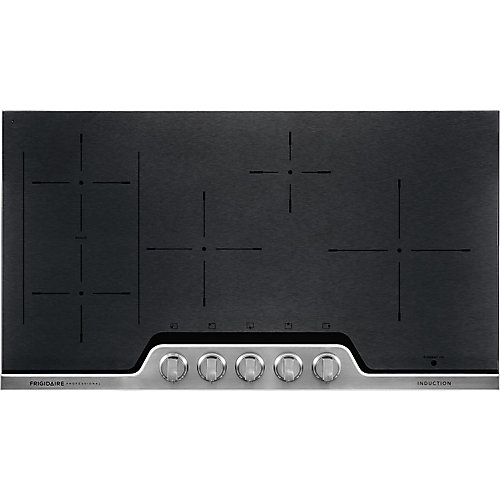 36-inch Induction Cooktop in Black Ceremic with Stainless Steel finish