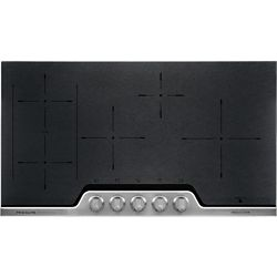 Frigidaire Professional 36-inch Induction Cooktop in Black Ceremic with Stainless Steel finish