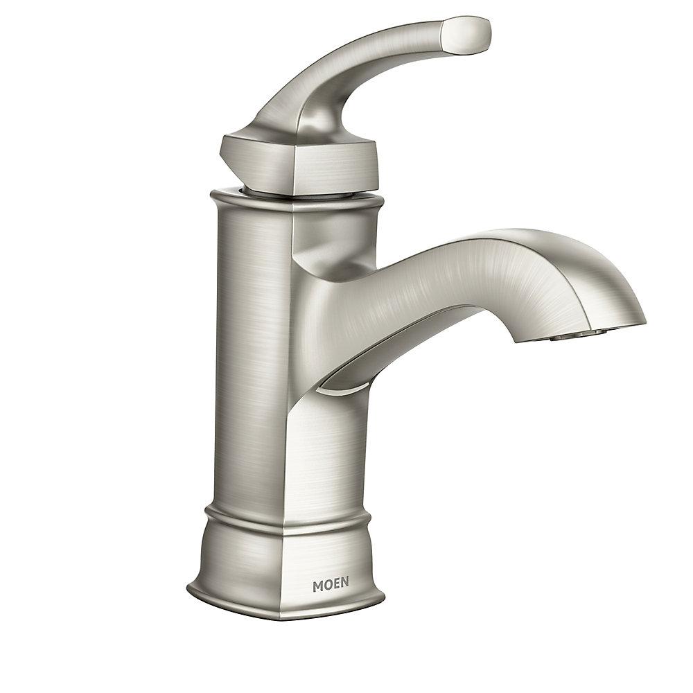 moen hensley single hole single-handle mid arc bathroom
