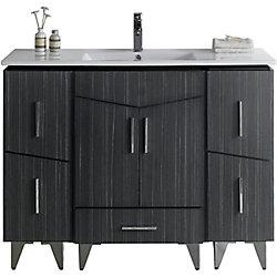 American Imaginations 48-inch W 5-Drawer 2-Door Freestanding Vanity in Grey