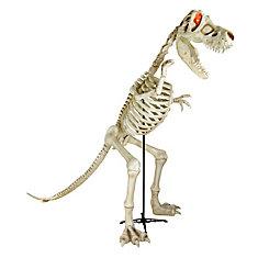 Squelette de dinosaure T-Rex illuminé à DEL d'Halloween, 30 po de long