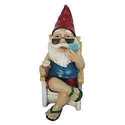 Angelo Décor Assortiment décoratif de statues de gnomes