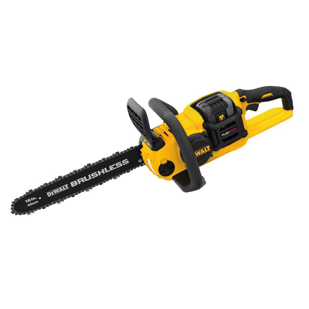 DEWALT FLEXVOLT 60V Max Cordless Brushless Chainsaw with Battery and Charger