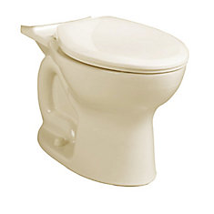 Cadet 2-Piece Single-Flush Round Bowl Toilet in Bone (Bowl Only)