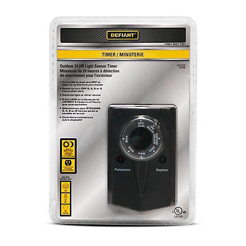 Outdoor 24-Hour Light Sensor Timer