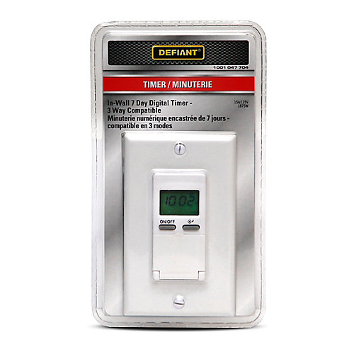 In-Wall 7-Day Digital Timer 3way