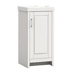 GLACIER BAY 17-1/2 Inch W Simard Vanity Combo (White)