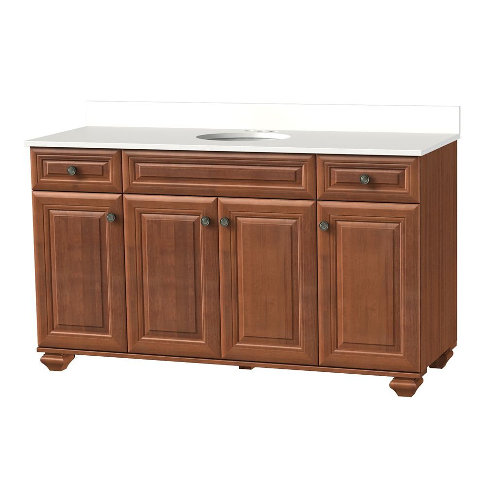 Home Decorators Collection 61 Inch W Brentstone Vanity Ensemble