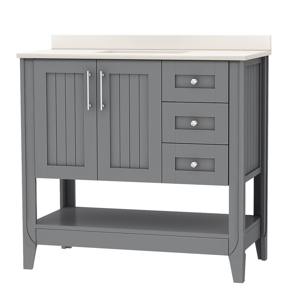 Home Decorators Collection 37 Inch W Brentstone Vanity Ensemble The Home Depot Canada