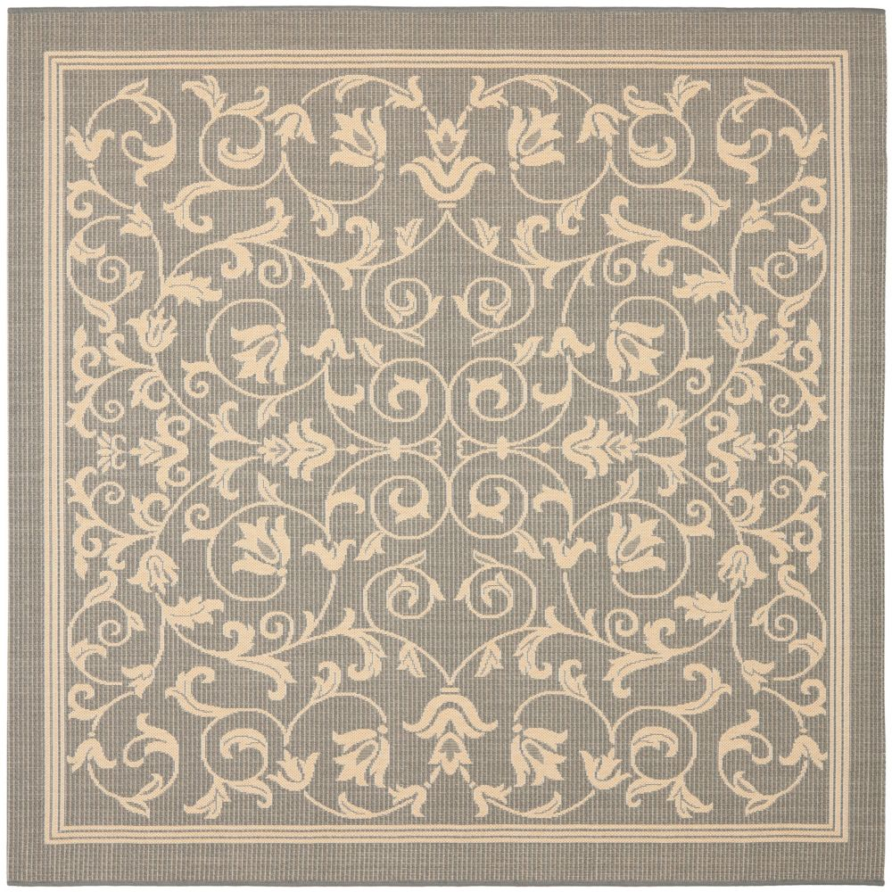 Safavieh Courtyard Marc Grey / Natural 6 ft. 7 inch x 6 ft. 7 inch Indoor/Outdoor Square Area Rug
