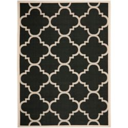 Safavieh Courtyard Alex Black / Beige 6 ft. 7 inch x 9 ft. 6 inch Indoor/Outdoor Area Rug