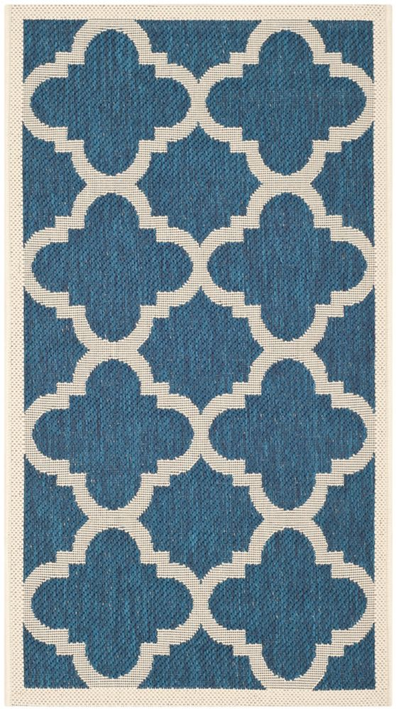 Safavieh Courtyard Alex Navy / Beige 2 ft. x 3 ft. 7 inch Indoor/Outdoor Area Rug